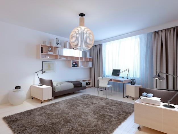 Idea di camera da letto contemporanea per adolescenti.