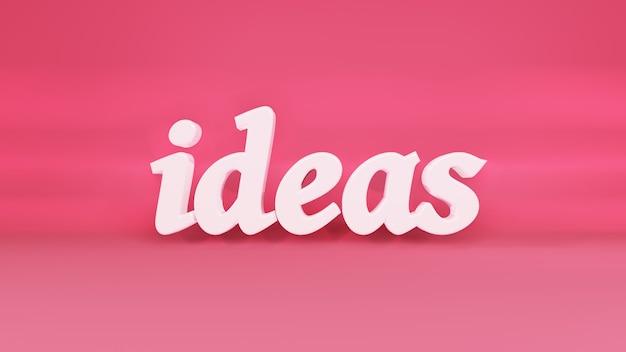 Idee logo 3d su sfondo con ombre