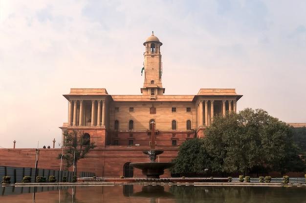 Presidenti illuminati house in india. rashtrapati bhavan.