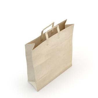 Illustrare di un sacchetto di carta, isolato, sfondo bianco
