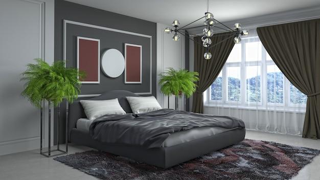 Illustrazione dell'interno della camera da letto