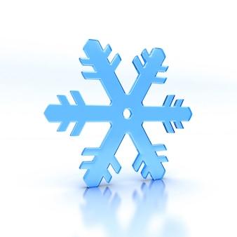 Illustrazione del fiocco di neve di vetro blu