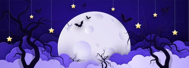Illustrazione cartone animato sfondo infantile con nuvole e stelle su stringhe
