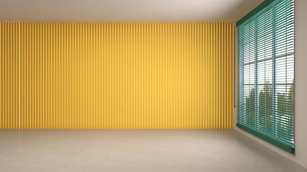 Illustrazione della stanza interna vuota