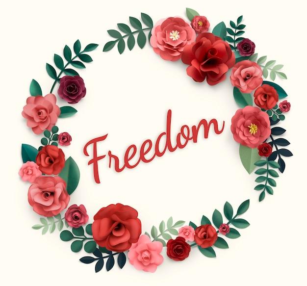 Illustrazione di libertà e fiore spensierato Foto Premium