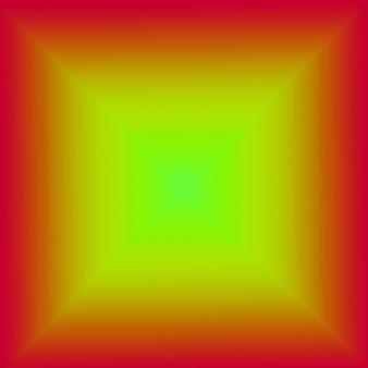 Illustrazione della piramide 3d verde lime con cornice quadrata rossa