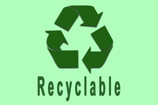 Illustrazione del cartello del riciclaggio