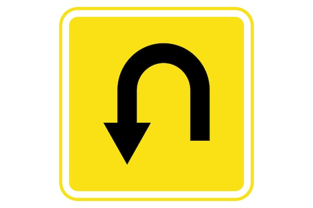 Illustrazione del segnale di ritorno su sfondo giallo