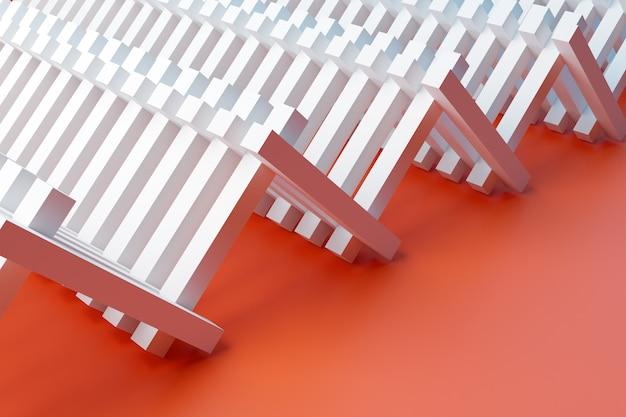 Illustrazione modello bianco in stile ornamentale geometrico da strisce