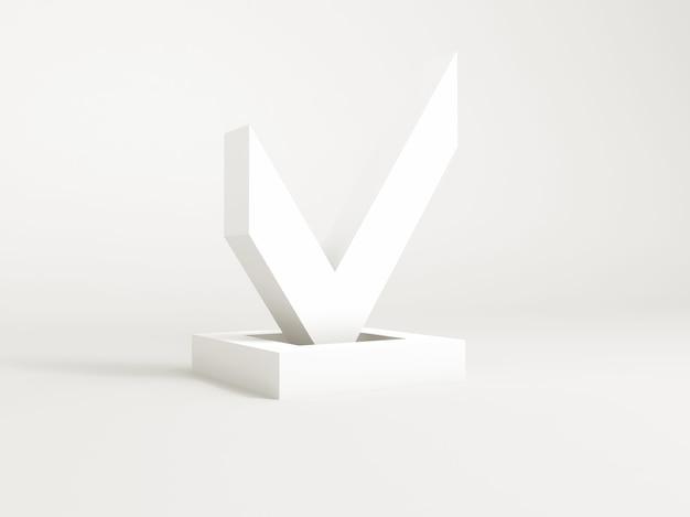 Illustrazione con il concetto di sì simbolo su bianco