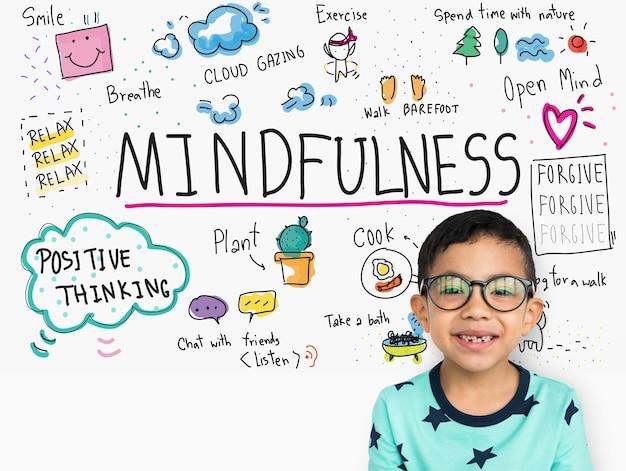 Immagina di imparare la mindfulness sketch school