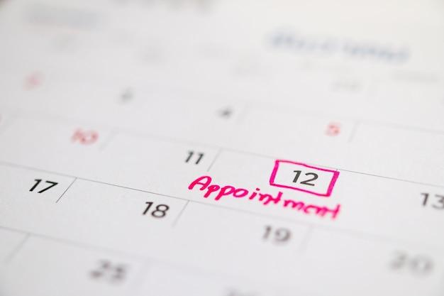 Calendario appuntamento importante scrivere sul calendario