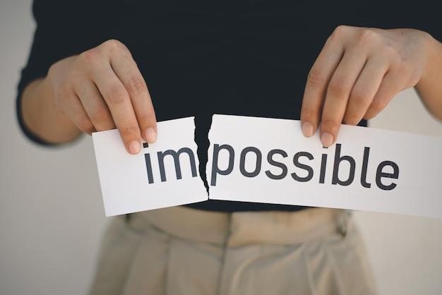 Impossibile o possibile, concetto di sviluppo personale