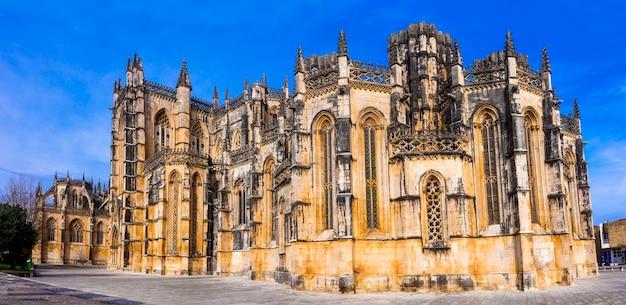 Impressionante monastero di batalha, portogallo.
