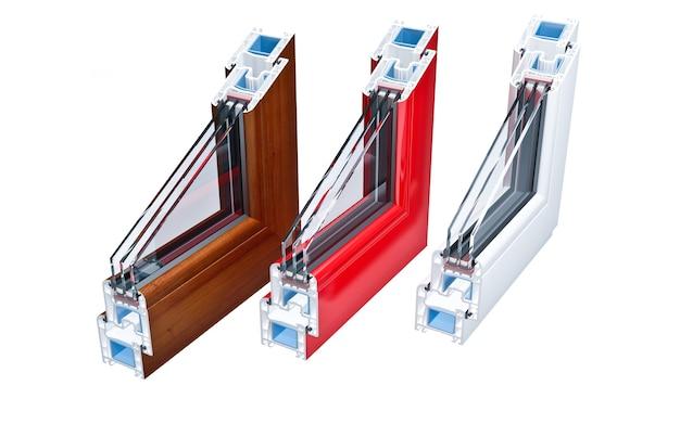 Finestre con profilo in pvc ad incisione con triplo vetro