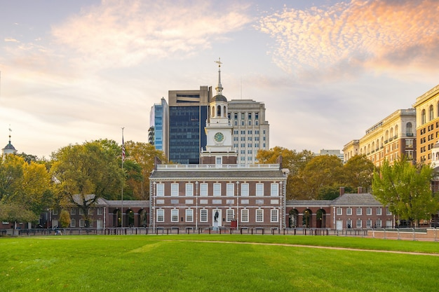Independence hall di filadelfia, pennsylvania, usa