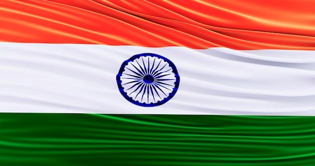 Bandiera dell'india per il memorial day, india sventolando bandiera, giorno dell'indipendenza.
