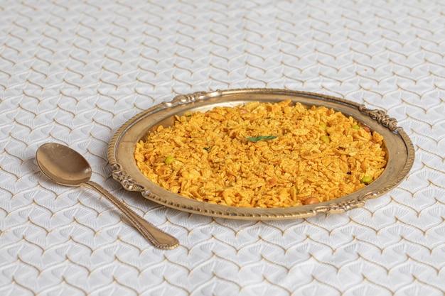 Indian mix namkeen food chivda