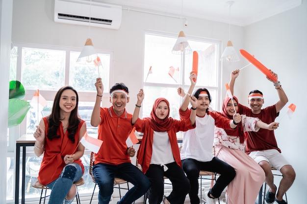 Festa dell'indipendenza del sostenitore indonesiano