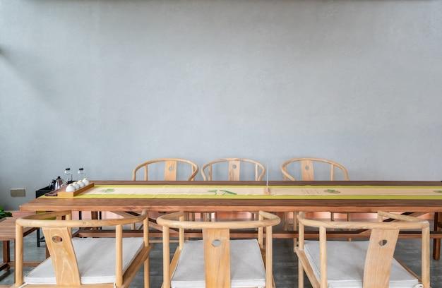 Sala da tè al coperto per il tempo libero con stile di decorazione cinese