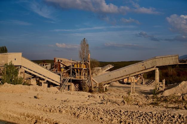 Industria della sabbia per lavori di costruzione di aree industriali