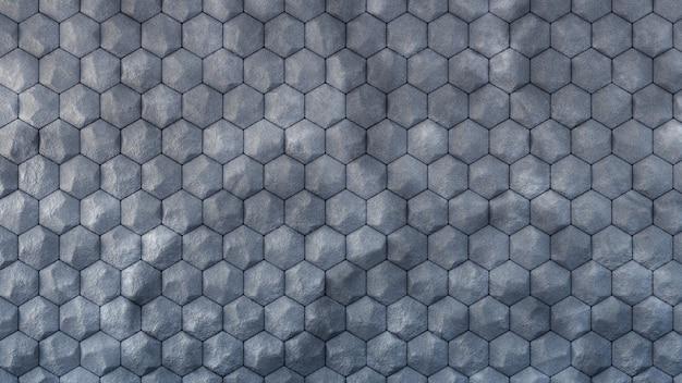 Forme esagonali di texture geometriche industriali in pietra