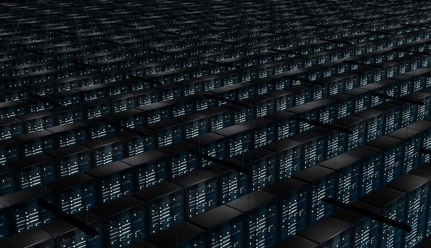 Stanza infinita di server di rete