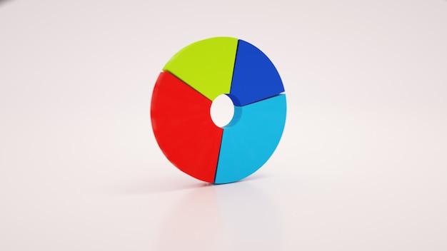 Diagramma infografico, immagine grafica. diagramma circolare di sviluppo, illustrazione 3d isolata su priorità bassa bianca.