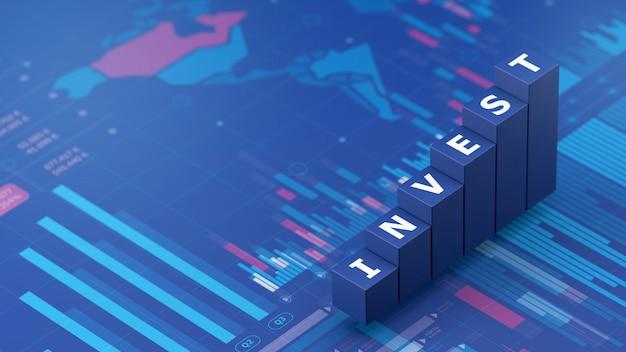 Affare di infographics e fondo di investimento, 3d