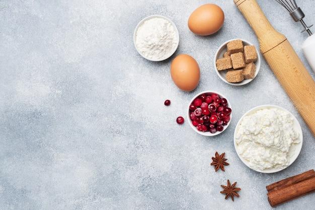 Ingredienti per cuocere biscotti, cupcakes e torte