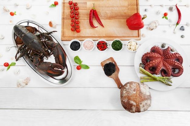 Ingredienti per cucinare, cibi crudi