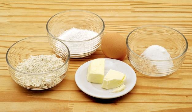 Ingredienti per pasta frolla