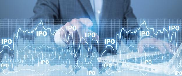 Offerta pubblica iniziale. ipo. commercio finanziario. investimento