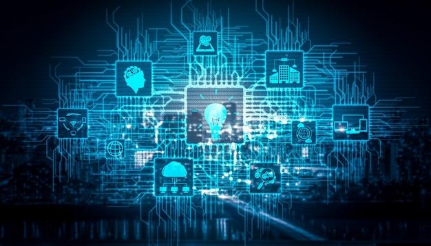 Innovazione tecnologica per il concetto di finanza aziendale. idee innovative pensiero, ricerca.