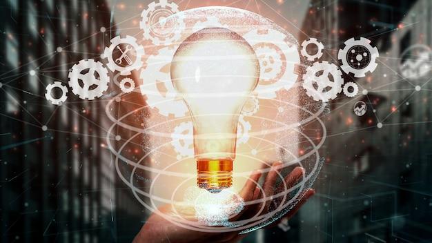 Tecnologia dell'innovazione per la finanza aziendale concettuale