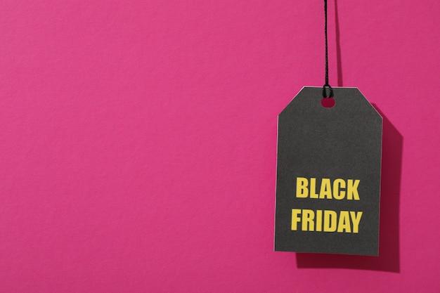 Iscrizione black friday sul prezzo da pagare su spazio rosa, spazio della copia