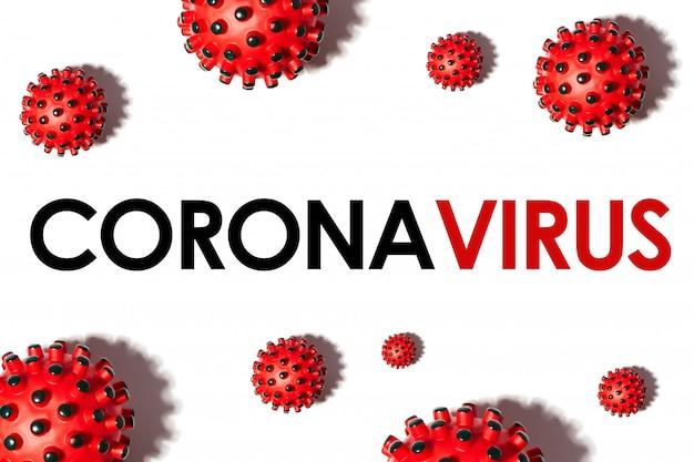 Iscrizione coronavirus su sfondo bianco. organizzazione mondiale della sanità oms ha introdotto un nuovo nome per la malattia da virus cinese 2020 denominata: covid-19 sars, coronaviridae, sars-cov, sarscov, mers-cov