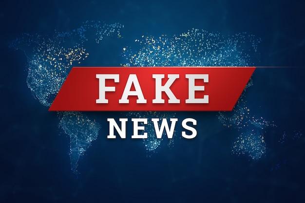 L'iscrizione è un banner di notizie false