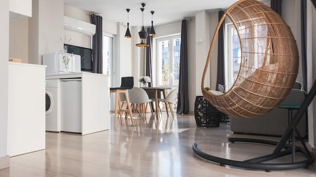 Vista interna di un appartamento moderno Foto Premium
