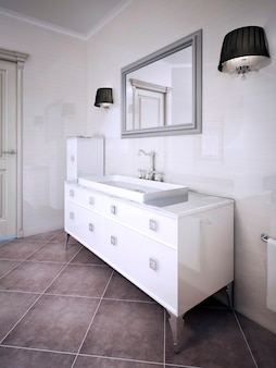 Ispirazione per un bagno elegante. rendering 3d