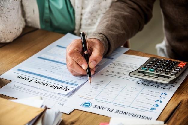 Concetto di vitalità di valutazione del rischio sanitario di assicurazione
