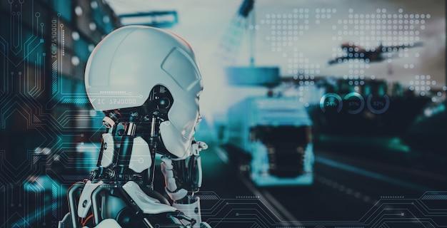 Concetti tecnologici intelligenti con partnership logistiche di livello mondiale