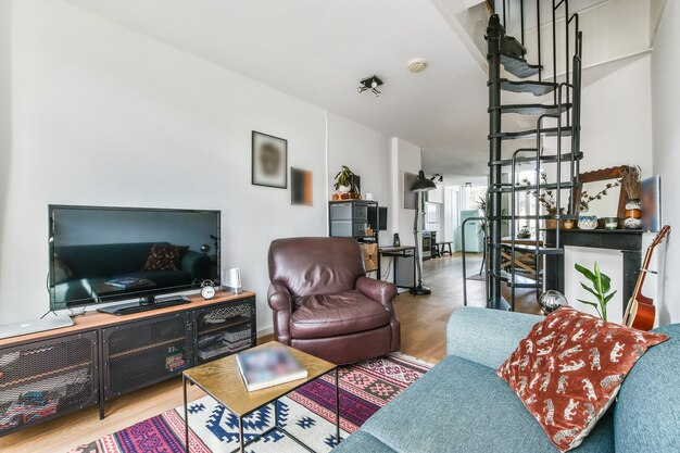 Interno di un bellissimo soggiorno in una casa moderna