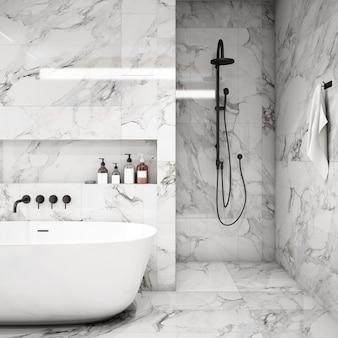 Interior design per zona bagno in stile moderno