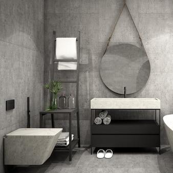 Interior design per il bagno in stile moderno in
