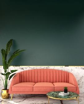 Interior design per zona giorno in stile vintage