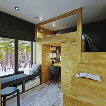 Interior design. soggiorno moderno