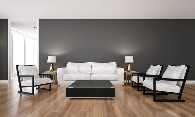 Il design degli interni del soggiorno di lusso moderno e dell'area lounge