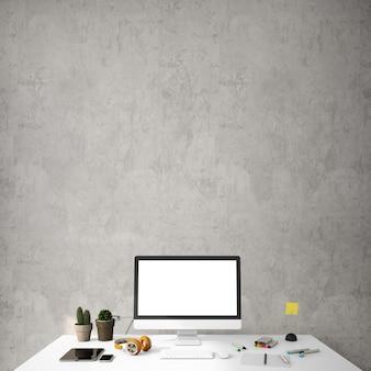 Interior design per zona lavoro in stile moderno