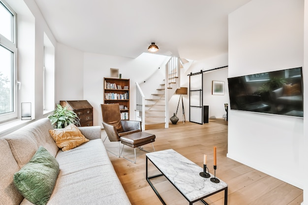 Interno di lusso e bellissimo soggiorno